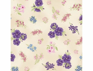 Floral - Purple Ivory