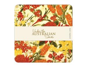 Under the Australian Sun Trivet - Cream / Orange