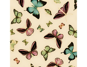 Butterflies - Cream Pink