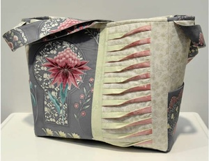 Melba Nouveau Pintuck Bag - front view