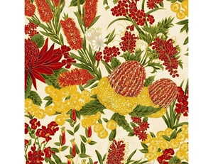Floral - Red Ivory