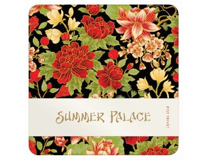 Summer Palace Trivet - Black/Red