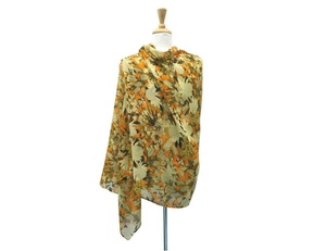 UTAS Orange/Cream Small Floral Scarf
