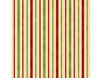 Hampton Stripe - Red Green Ivory