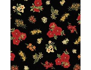Floral - Red Black