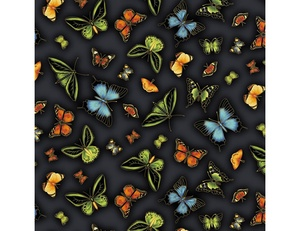 Butterflies - Black Multi