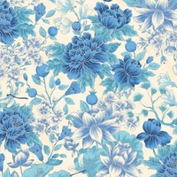TTP0021M-12 Ivory Blue Floral