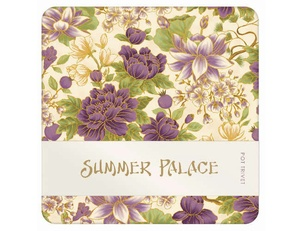 Summer Palace Trivet - Cream/Plum