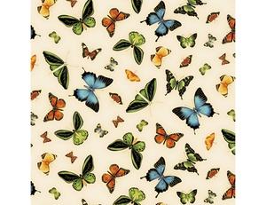 Butterflies - Ivory Multi