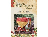 Tidy Up Kit - Ivory Red Floral