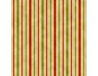 Hampton Stripe - Orange Green Cream