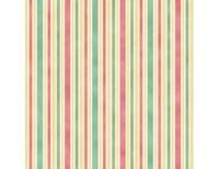 Hampton Stripe - Pink Teal Ivory