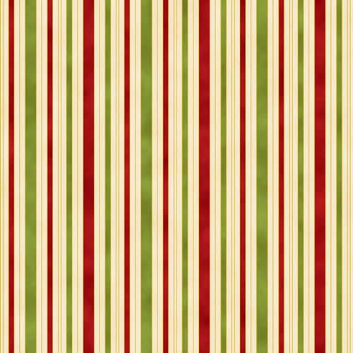 Hampton Stripe 0011 1 Red Green Ivory