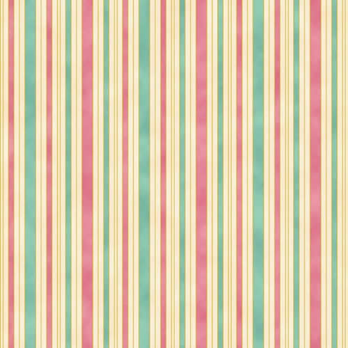 Hampton Stripe 0011 6 Pink Teal Ivory