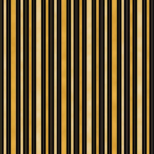 Hampton Stripe 0011 7 Black Gold Cream