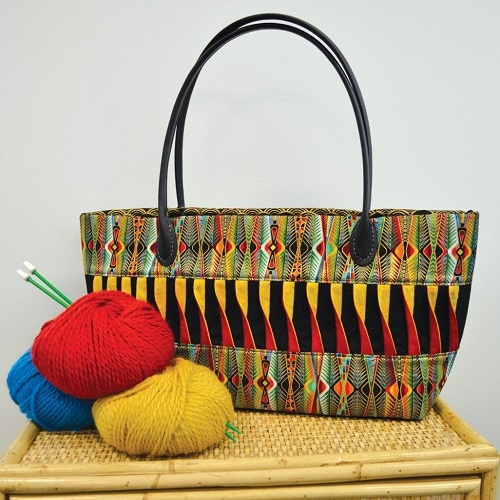 Twisted Knitting Bag
